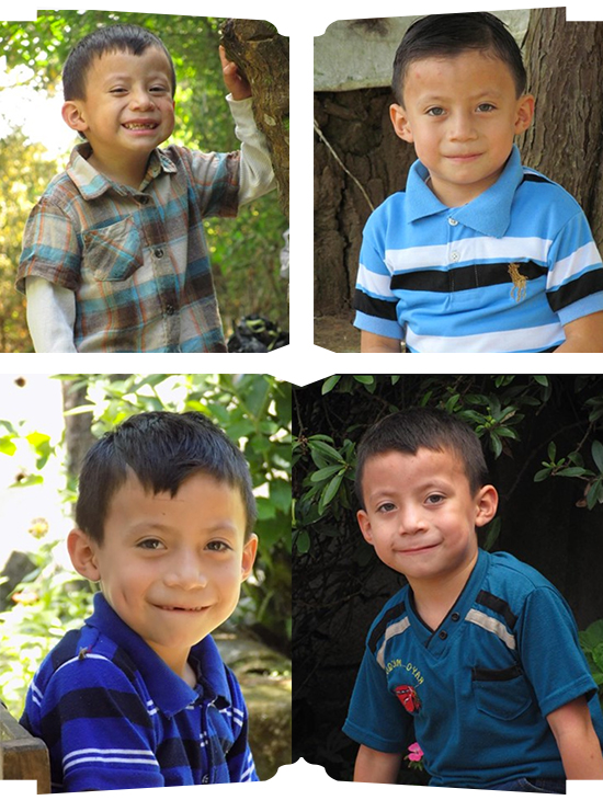 From top left clockwise: jaime from 3-6 years old. jaime is Sponsored by the christina scalera law group llc